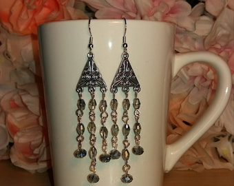Triangle Chandelier Earrings