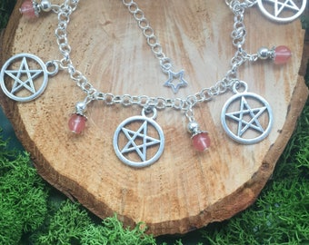 Witches Charm Bracelet Wicca bracelet Handmade Pagan Pagan Jewellery Pagan bracelet  Jewellery for Wicca  Witch Witchcraft Pentacle