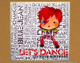 Suzartecreations by suzartecreations on etsy david bowie birthday card bookmarktalkfo Image collections