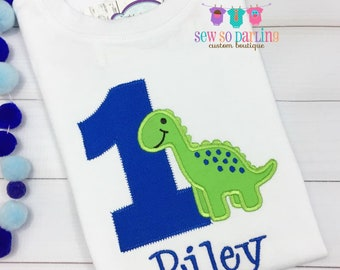 Dinosaur Birthday Shirt - Baby Boy Dinosaur Birthday Outfit - 1st Birthday Dinosaur Shirt  - Birthday shirt - Boy Birthday Shirt - ANY AGE