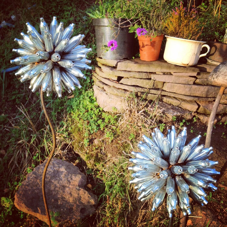 Scrap Metal Flower Garden Art Yard Art Allium Flower