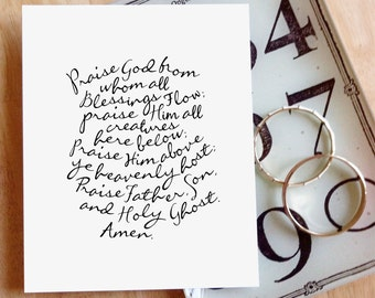 """Praise God From Whom All Blessings Flow (Doxology)  