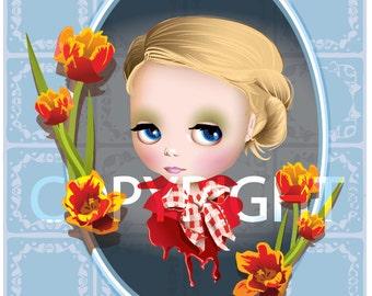 Saffron Tulip 4x6 Postcard