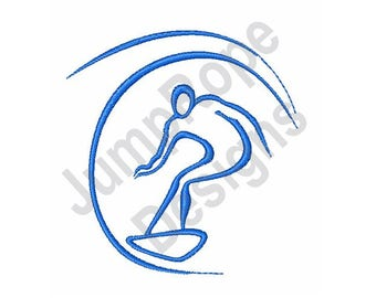 Surfer Wave - Machine Embroidery Design