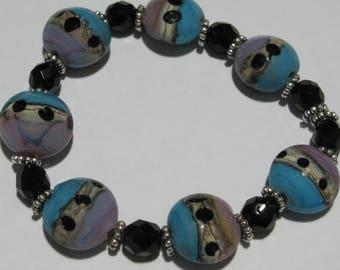 FiredDesiresStudio Lampworked Bead Set #243 Simply Elegant