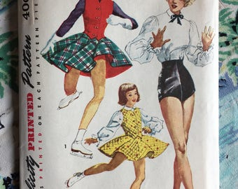 1950s Simplicity 4076 | Vintage Girl's Dance Costume Pattern | 1950s Sewing Pattern | Girl's Size 10 Chest 24""