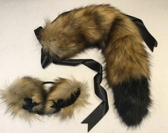 Luxury Butterscotch Wolf  - kitten Play Set Tail & Ears