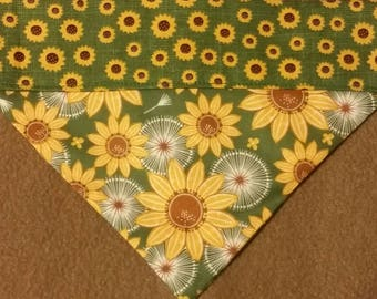 SALE! Reversible Sunflower Dog bandana