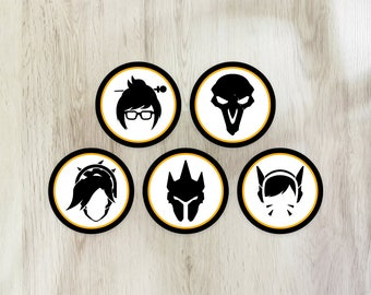 26 Printable Overwatch cupcake toppers & wrappers