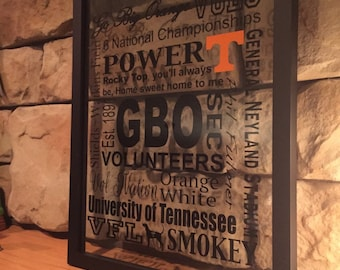 11x14 framed all things Tennessee football. Vols.