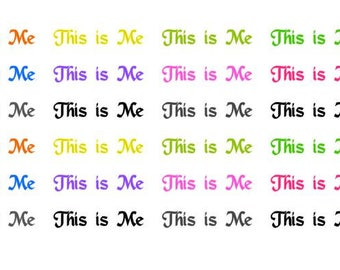 This is Me Wordy Icons WI0032