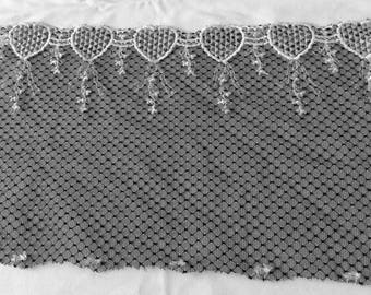 Black and white lace from a well known French manufacturer