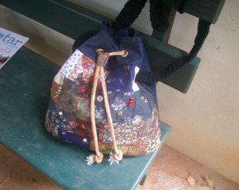 Jeans&patch handbag. Free shipping.