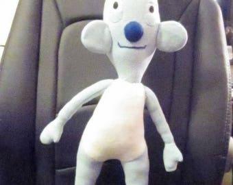 Oscar Rabbit Custom Order Toy with Mission Mascot Toy Blue Fleece Mascot Rabbit Cuddly Toddler Toy Ornamental Toy Mascot Unusual Toy Rabbit.