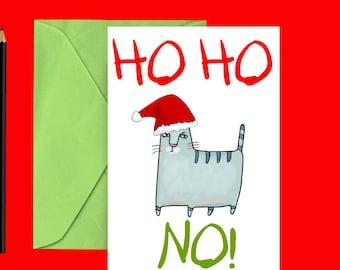Funny cat Christmas card - Cat Christmas card - Cat holiday card - Funny cat holiday card - Sarcastic card - Printable Christmas card