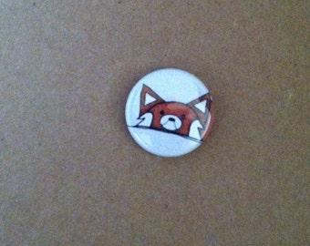 """Red Panda Pinback Button 1"""""""