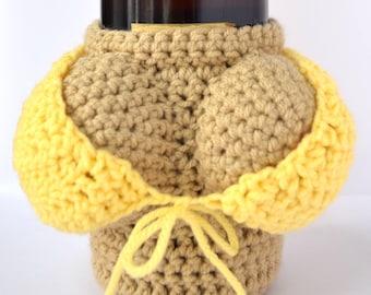 Crochet Boobie Wine Bottle Sleeve Gift - Bachelor Gift - Bachelorette Gift - Hostess Gift