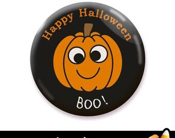 Pumpkin Jack O'Lantern Halloween Button, Button Badge, Badge, Pin Badge, Fridge Magnet, Refrigerator Magnet, Pocket Mirror, 25mm 45mm 58mm