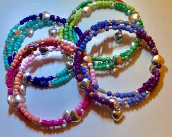 Loving heart charm bracelet