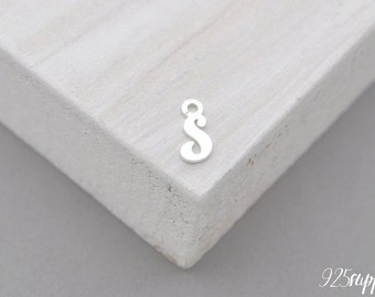 925 Sterling Silver letter, letter pendant, letter charms, letter, karma silver, personalization silver, personalization pendant, initial