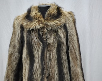 Vintage 70's Raccoon Fur Coat.....(132)