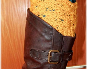 Unique Crochet Boot Cuff Pattern, Toddler Boot Cuffs, Boot Socks Pattern, Boot Warmers Pattern, Leg Warmers Pattern, Easy Boot Liners