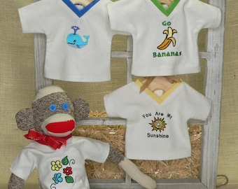 Sock Monkey Shirts - Dress Up Your Barn Chimps Sock Monkey (made from Rockford Red Heel Socks)