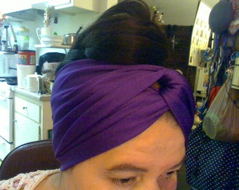 Purple Headband with twist