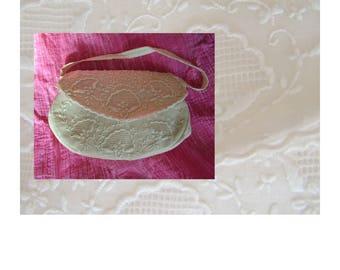 Vintage silk clutch bag evening purse handbag wedding purse