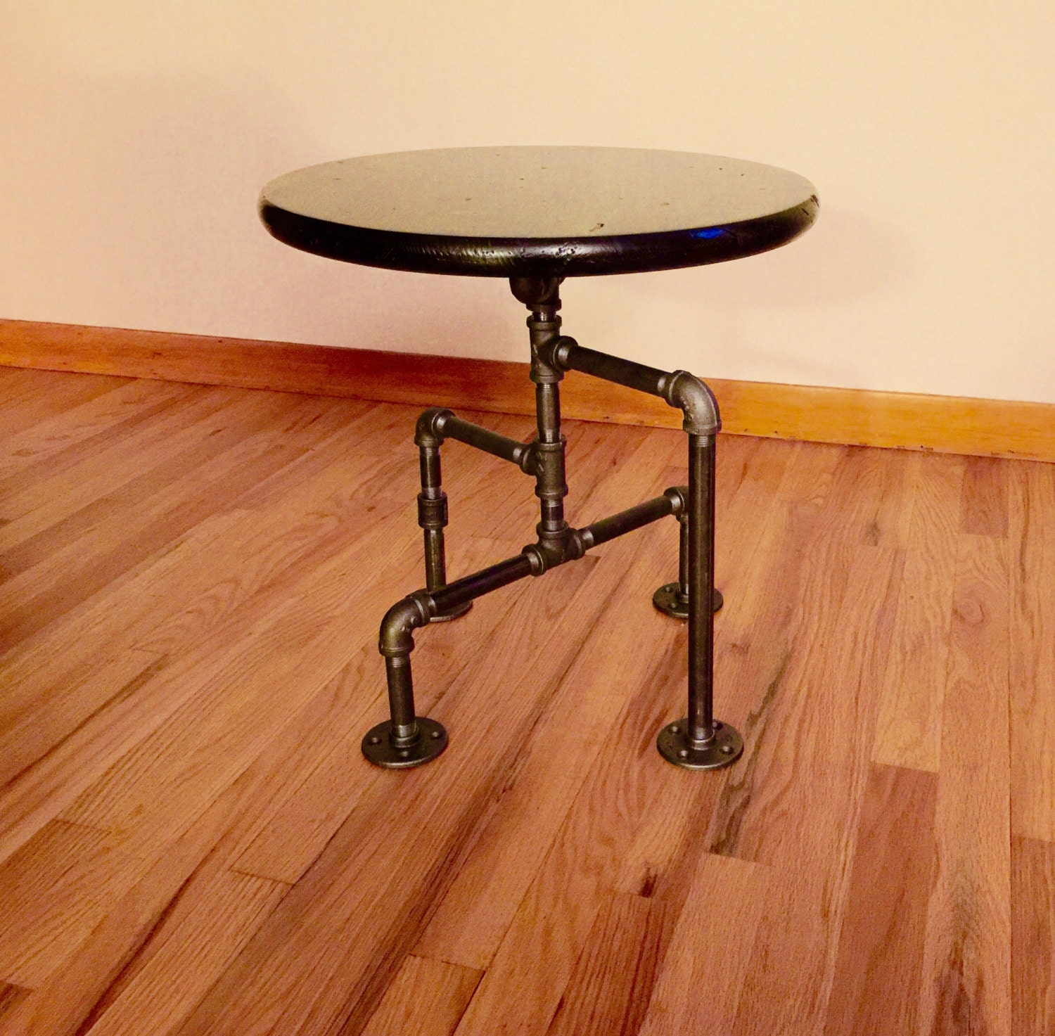 black iron furniture. Black Iron Pipe Table. Industrial Table, End Man Cave Bar Steampunk Table Furniture