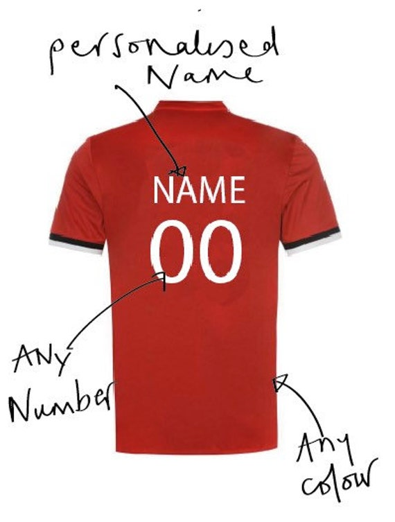 Personalised football shirt