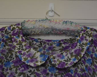 Sheer Purple Floral 1940s Reproduction Dress