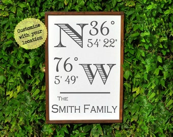 Housewarming Gift | New Home Housewarming Gift | Our First Home Farmhouse Sign | Personalized Gift | New Home Gift | House warming Gift Idea