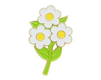 Retro floral enamel brooch