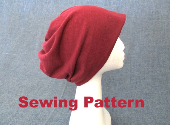 slouchy soft jersey beanie sewing pattern pdf two layers