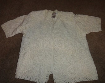 Size Medium sweater 40 in bust 23 in length cototn-sweater-ugly sweater- sweater- ugly christmas sweater--