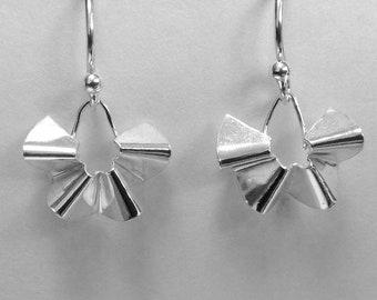 Sterling silver fold earrings