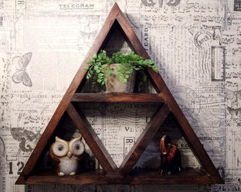 Attractive Rustic Triangle Shelf // Bathroom // Bedroom // Living Room // Zelda