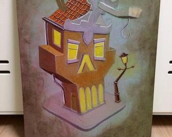 "Original painting ""O.P. Canal House 1"""