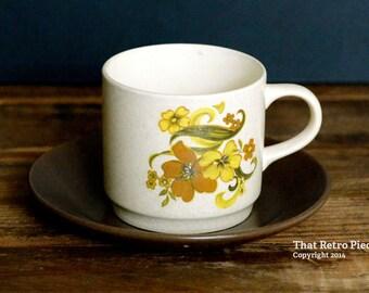 Johnson of Australia 'Corfu' teacup/saucer set (c. 1973)