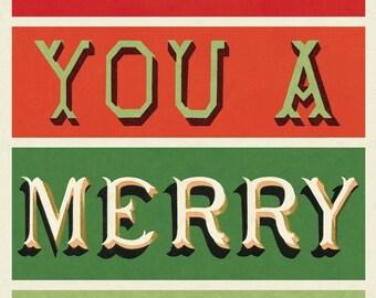 Cavallini Merry Christmas Wrap