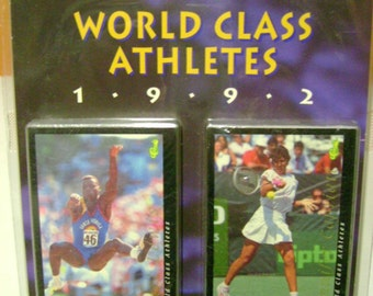 World Class Athletes 1992 60 Limited Edition Collectable Cards with Certificate Of Limited Edition