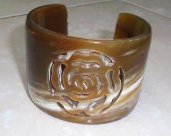 Horn bracelet - horn jewelry - Horn bangle bracelet - Brazalete de cuerno KAI-3726