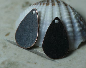 Antique copper drop dangle size 15x9mm, 4 pcs (item ID XW01194AC)