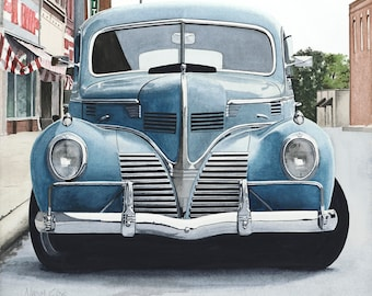 1939 Dodge Giclee Print from Original Watercolor Painting