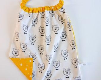 "Towel boy ""Mr bear, stars yellow"""