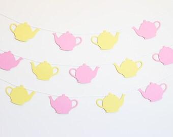 Teapot Party Banner - Customizable Colors