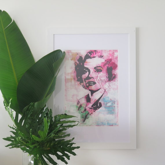 Marilyn Monroe Fine Art Print A2 Screen-print on 300gsm textured cotton Paper Limited Edition