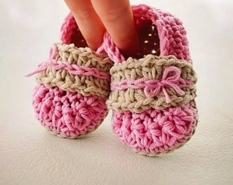 Crochet Bootie Pattern: Alana Flats - Permission to sell finished items -Sizes 0-3 years- crochet pattern