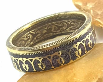 Coin Ring - Tunisian 100 Millim - size 10.5